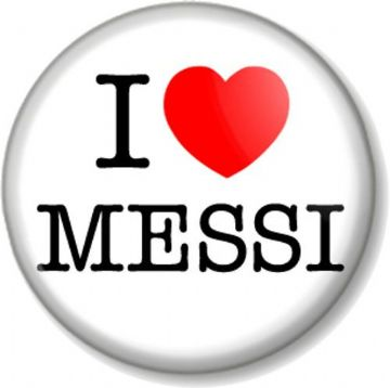I Love / Heart MESSI Pinback Button Badge FC Barcelona Lionel Argentina Football Soccer Star